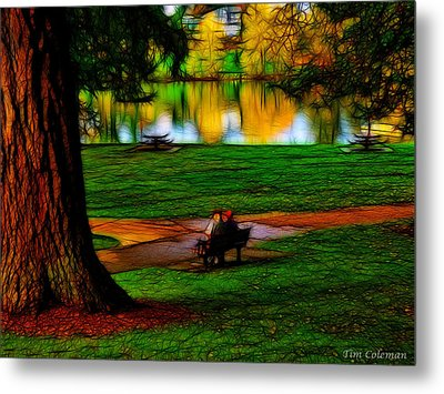 Couple's Therapy Metal Print by Tim Coleman