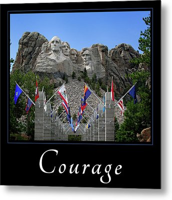 Metal Print featuring the photograph Courage by Mary Jo Allen