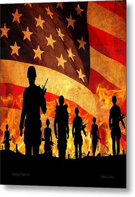 Courage Under Fire Metal Print