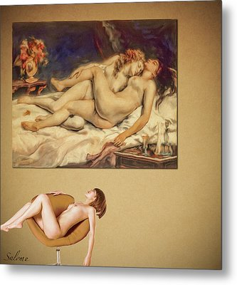 Courbet And A Woman Metal Print by Salome Hooper