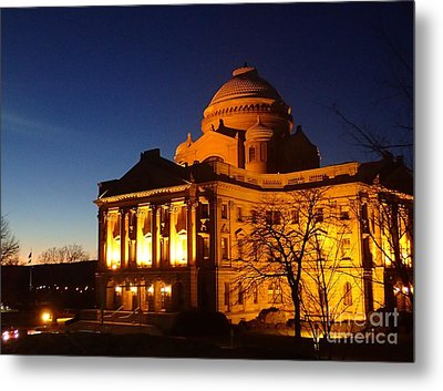Courthouse At Night Metal Print