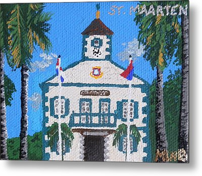 Courthouse In Philipsburg Metal Print