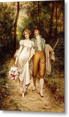 Courtship Metal Print by Joseph Frederic Charles Soulacroix