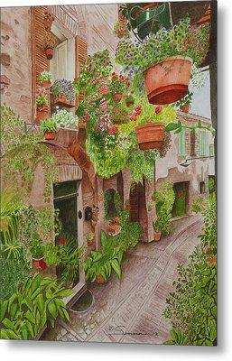 Courtyard Metal Print by C Wilton Simmons Jr