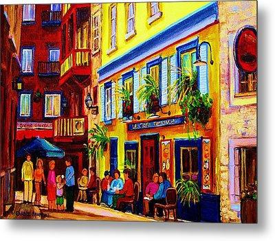 Courtyard Cafes Metal Print