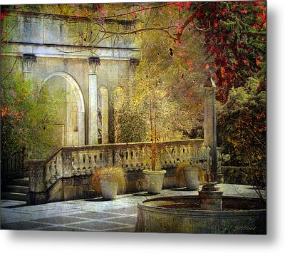 Metal Print featuring the photograph Courtyard by John Rivera