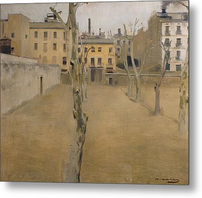 Courtyard Of The Old Barcelona Prison Metal Print