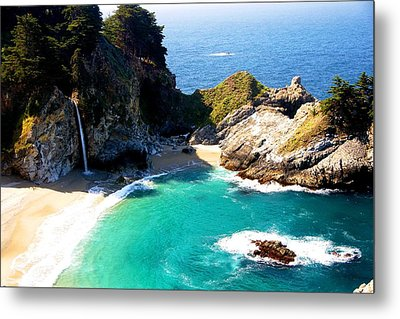 Cove And Mcway Falls Metal Print by Michael Courtney