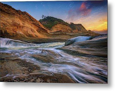 Cove At Cape Kiwanda, Oregon Metal Print by Rick Berk