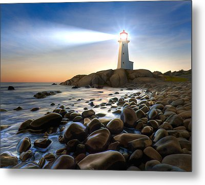Cove Light Metal Print by James Charles