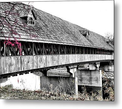 Covered Bridge 2 Metal Print