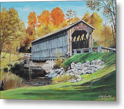 Covered Bridge Metal Print by Bill Dunkley