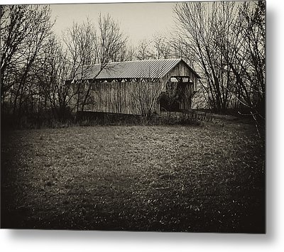 Covered Bridge In Upstate New York Metal Print by Bill Cannon