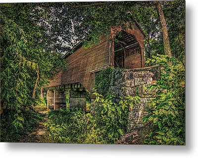 Metal Print featuring the photograph Covered Bridge by Lewis Mann