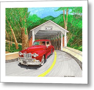Covered Bridge Lincoln Metal Print by Jack Pumphrey