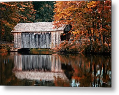 Covered Bridge Osv Metal Print by Fred LeBlanc
