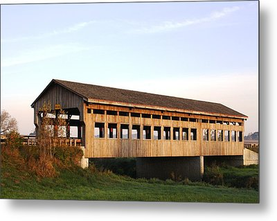 Covered Bridge To Rockwood Metal Print by Bruce Bley