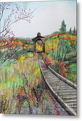 Covered Bridge, Vermont Metal Print