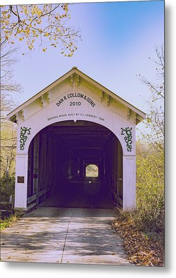Covered Bridge Metal Print by William Morris