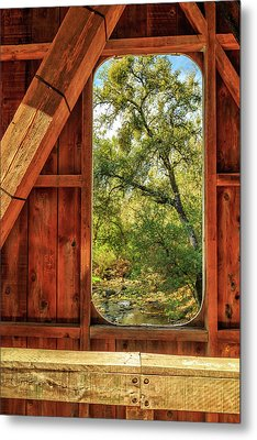 Metal Print featuring the photograph Covered Bridge Window by James Eddy