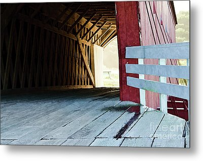Covered Bridge, Winterset, Iowa Metal Print by Wilma Birdwell