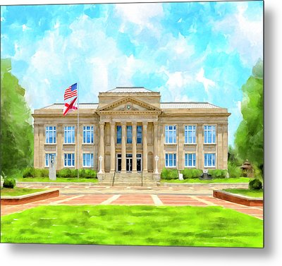 Covington County Courthouse - Andalusia Alabama Metal Print