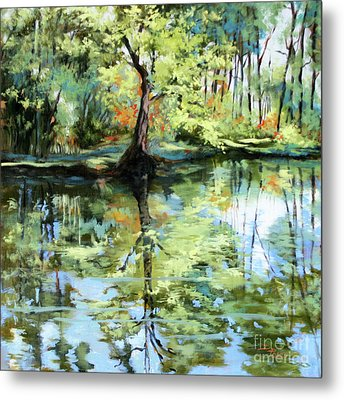 Covington Pond Metal Print by Dianne Parks