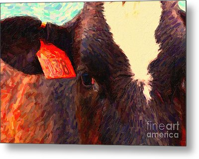 Cow 138 Reinterpreted Metal Print by Wingsdomain Art and Photography