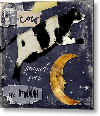 Cow Jumped Over The Moon Metal Print by Mindy Sommers