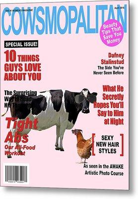 Cow Poster Metal Print