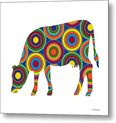 Cow Metal Print by Ron Magnes