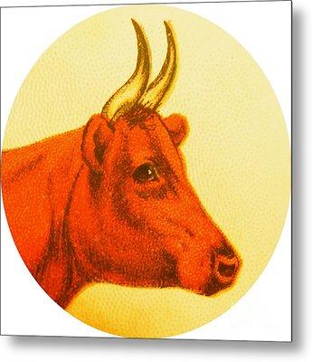 Cow V Metal Print