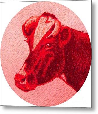 Cow Vi Metal Print by Desiree Warren