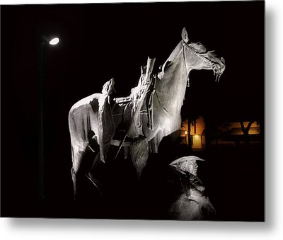 Cowboy At Rest Metal Print by Christine Till