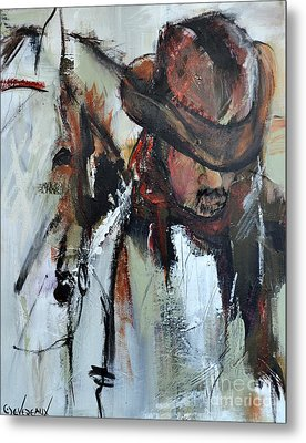 Metal Print featuring the painting Cowboy II by Cher Devereaux