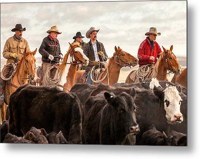 Cowboy Posse Metal Print by Todd Klassy