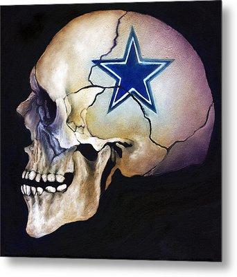 Cowboy Skull Metal Print