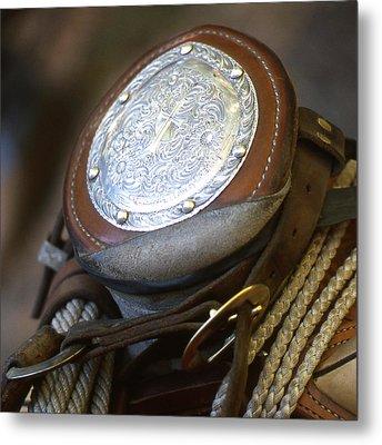 Cowboys Horn Metal Print by Diane Bohna