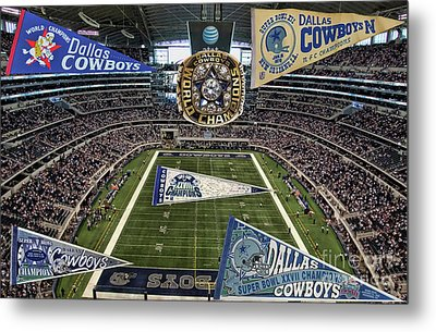 Cowboys Super Bowls Metal Print