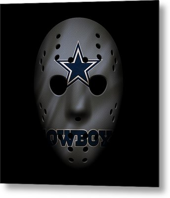 Cowboys War Mask 2 Metal Print