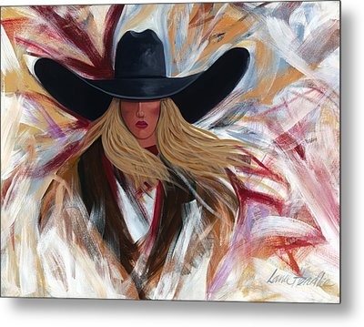 Metal Print featuring the painting Cowgirl Colors by Lance Headlee