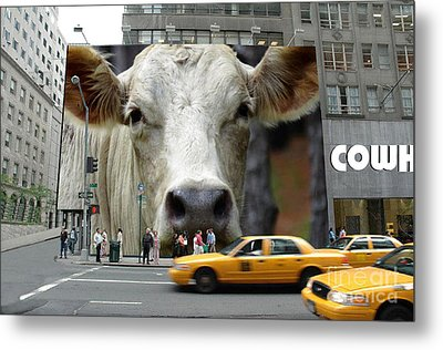 Cowhouse Street Art No. 1 Metal Print