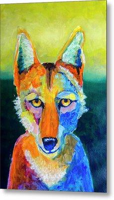 Coyote Metal Print by Rick Mosher