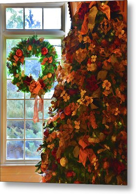 Metal Print featuring the photograph Cozy Christmas by Diane Alexander