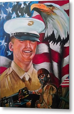 Cpl. Drown Metal Print