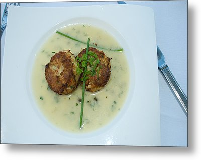 Crab Cakes Metal Print by Joseph Hollingsworth