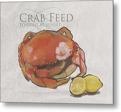Crab Feed Metal Print by Brad Burns