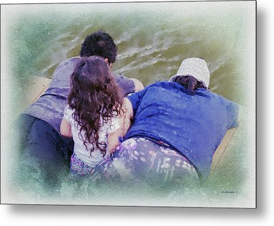 Crabbing Siblings Metal Print