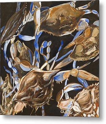 Crabs Metal Print by Chelle Fazal
