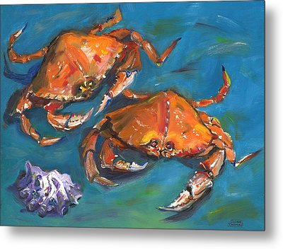 Crabs Metal Print by Susan Thomas